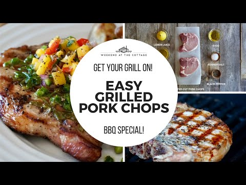 The best easy grilled pork chops