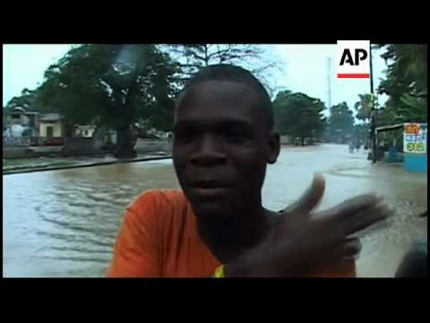 Flooding in haiti, turks and caicos and dominican republic from hurricane tomas