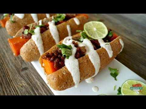 """How to make carrot """"hot dogs"""" with alvarado street bakery sprouted hot dog buns"""