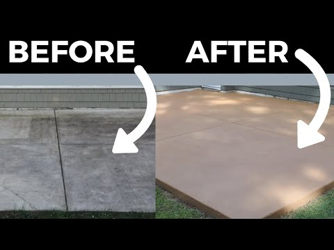 How to stain concrete (simple diy method)