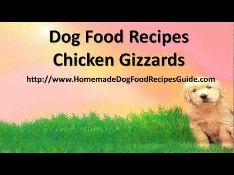 Dog food recipes chicken gizzards