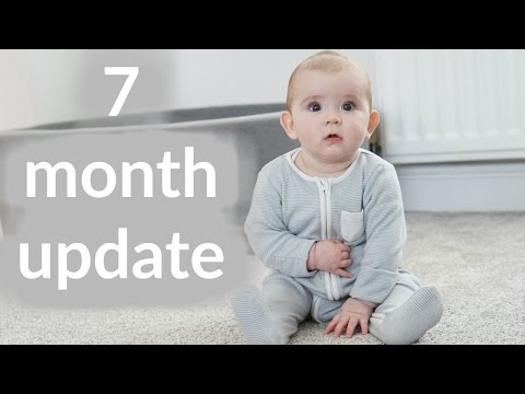 Baby update - 7 months feeding, weaning and sleep