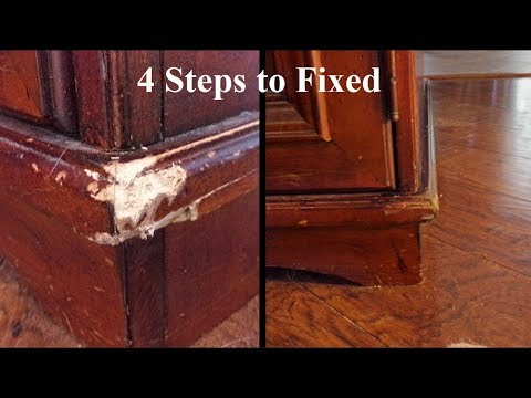 4 steps to fixed: scratched furniture repair