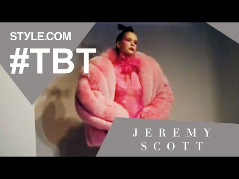 Jeremy scott's pink poodle collection - #tbt with tim blanks - style.com