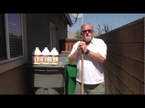 How to remove urine and feces odors from concrete.
