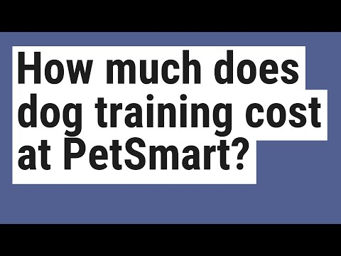 How much does dog training cost at petsmart?