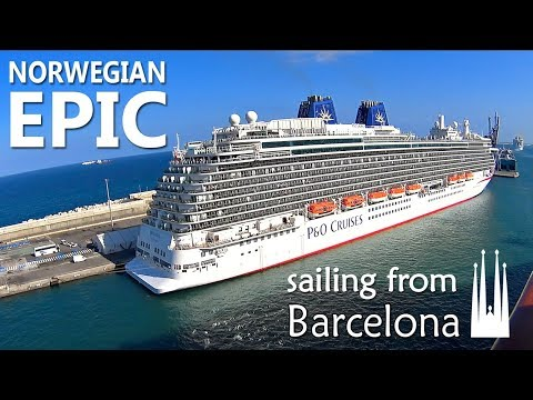 Norwegian epic sailing from barcelona   view from the ship   sony camera