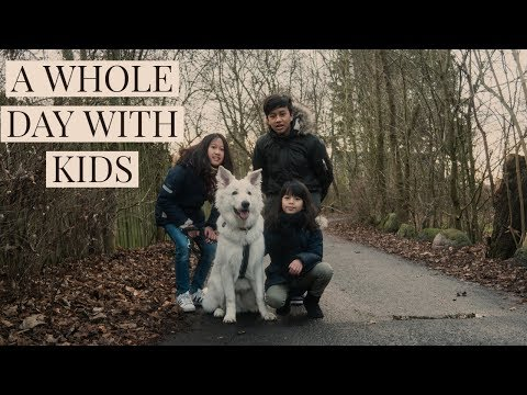 Are shepherds good with kids? a whole day with kids   white swiss shepherd   7 months old