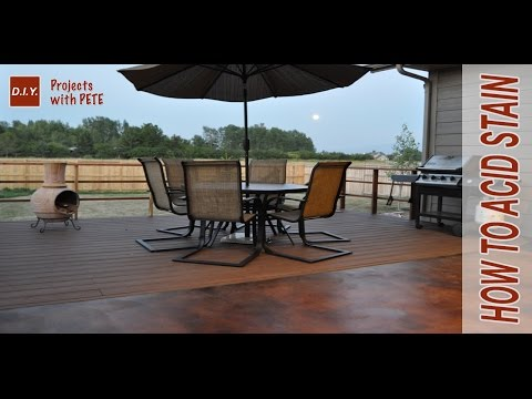 How to acid stain concrete   diy acid stained concrete patio