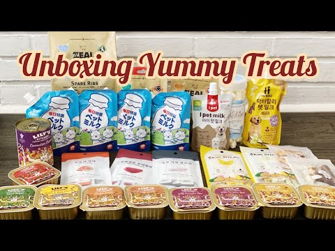 Unboxing yummy foreign treats and dog food ft. lily's kitchen and much more