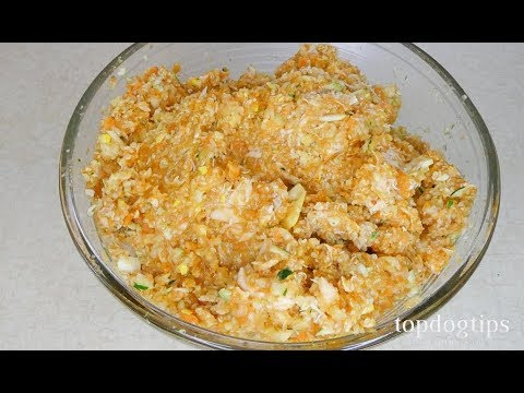 Home cooked salmon dog food recipe (good for dog's skin and coat health)